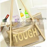 2014 fashion plastic beach PVC bag swimming bag with small pocket                                                                         Quality Choice