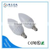 3W Thermal conductive plastics led candle light 3W