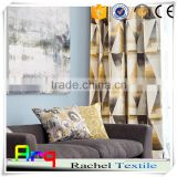 Abstract fabric painting designs living room curtain fabric Linen Polyester blend