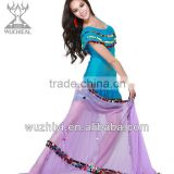 2014 Belly Dancing Costumes Dress, Royal Blue Sequins Performance Clothes for Dance(QC2038)