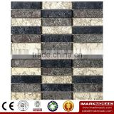 IMARK Mixed Color Mosaic by Gold Foil Glass Mosaic Tiles for Wall Decoration Code IXGM8-089