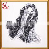 Wholesale 100% Polyester Cheap Scarf Fashion Digital Printed Ladies Shawl Girls Large Scarves