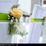 Wedding Cheap Flower Chair Satin Sashes