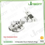 High quality 3-D adjustable hydraulic clip on small spring hinge hardware concealed hinge for thick door