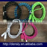 Braided Fabric Micro USB Flat Charger for Samsung note 4 Sync Data Cable