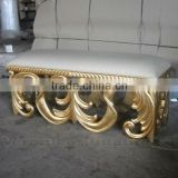 Living Room Sofas - Antique Gold Leaf Living Stool