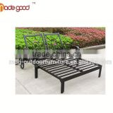 hot sell double-seat lounge chaise chair outdoor garden furniture hotel furniture set antique long sofa