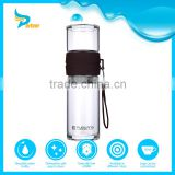 Glass Water Bottle with Customized Silicone Sleeve, Hot Water Bottle with Straw, 10 Gallon Glass Water Bottle
