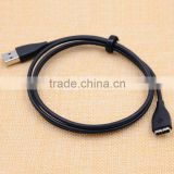Fashionable New Arrival Sell On Alibaba Black USB Charging Cable for Fitbit Surge Fitness Wristband Bracelet
