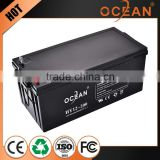 New product promotion great power 12v 200ah diaphanous storage battery for car