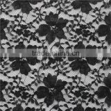 net black nylon cotton mixed fabric floral lace for apparel/girls dress/anarkaw salwar kameez