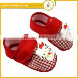 2016hot sale baby first step shoes newborn lovely pattern safety baby crib shoes
