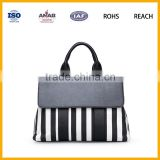 Europe New Desgin Lady Elegance Shoulder Tote Bag Wholesale PU Leather Handbag With Chain Handles