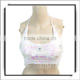 2012 Newest Design Belly Dancing Costume Choli White