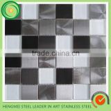 Best selling colored 304 410 430 stainless steel mosaic tiles price per kg for building materials