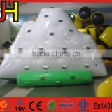 2016 factory price inflatable iceberg climbing water island climb wall toys 0.9mm PVC tarpaulin