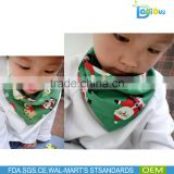 2015 Christmas cotton Baby bib cute kids gift baby bandana bibs