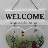 Heart Shape Design Wall Hanging Wood Sign board Decor