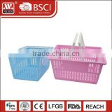 Wholesale Baskets with Handles fruit basket plastic hanging basket wholesale for Storage Shopping