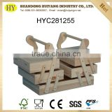 customized cheap natural unfinished wooden sewing box