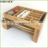 Desktop Office Bamboo Organizer with File Holder/Homex_FSC/BSCI Factory