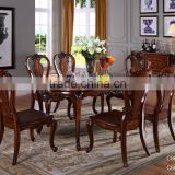 C6603 Baroque Antique Style Italian Dining Table, 100% Solid Wood Italy Style Luxury Dining Table Set