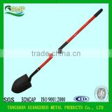 high quality powder coating digging garden fiberglass handle shovel