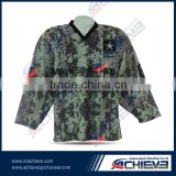 Fashionable european hockey jersey custom made wholesale camouflage ice hockey goalie jerseys