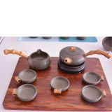 Unique Chinese Handmade Tea Set Tea Cup With Short Handle Tea Pot
