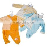 baby velour T-shirt and legging set/velour pant sets/baby wear set