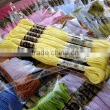 wholesale dmc cotton thread 12 pieces embroidery floss 100% Egyptian Cotton Cross Stitch Thread