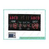 High School Electronic Basketball Scoreboards With Single Face Led Digital Display