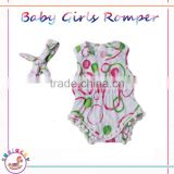 Premature baby clothes BR011 Girls Romper Baby Lace Tassels Floral Cotton Summer Rompers