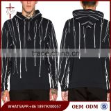 Man apparel autumn stylish design your own zipper wholesale plain black hoodie