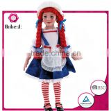 Onbest China wholesale lovely doll cute maid carnival career costume with red hair for kids