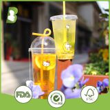 Beautiful printing PP disposable cup with various lids