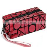 Lattice Sequined Folading Travel Makeup Pouch Bag Cosmetic With Zipper