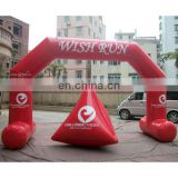 red color inflatable sealed air arch and water buoys customized logo colour design