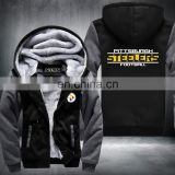 New Titans Footballs Thicken Fleece rugby Zip Up Hoodie winter Coat