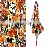 New style Digital Printed Rayon Fabric For Woman Garment