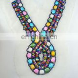 colourful handmade ethnic collar