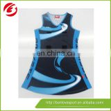 2015 colorful make your sublimated netball jersey and skirts