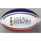 Full Size Rugby Ball full Custom design High quality rubber top
