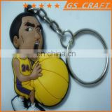 Customized fashion rubber keychain/basketball rubber key chain