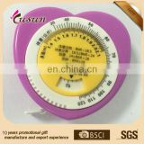 Muti-functional heart shape BMI tape measure
