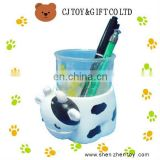 Daily Cattle Shaped Plastic Pencil Vase as Pen Holder