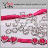 Factory directly ! Wholesale square rhinestone buckle 10PC per bag