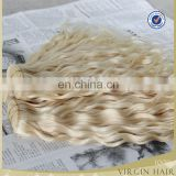Cheap hair extension color hair weaves brazilian curly blonde hair