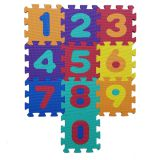 QT MAT Non-toxic Odorless 10in x 10in Baby EVA Numbers Puzzle Foam Play Mat