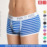 Fashion sports men's underwear wholesale striped men's boxers OEM / ODM